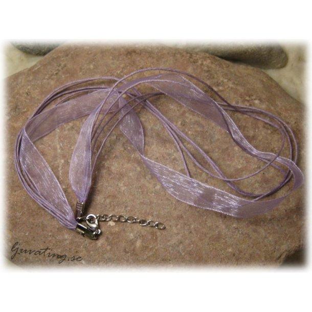 Klart smyckeband lila organza o tvinnad bomull