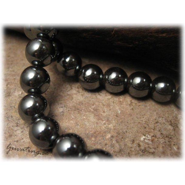 Hematit rund pärla 10-pack ca 8 mm