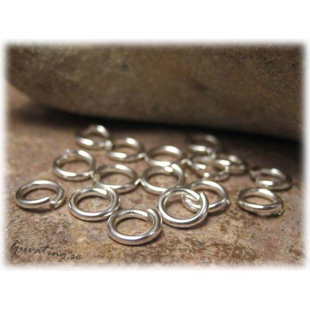Bindringar robusta silverfärgade 50-pack 6 mm