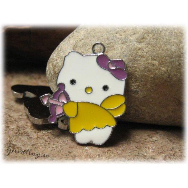 Hello Kitty gul med pil ca 23x19 mm