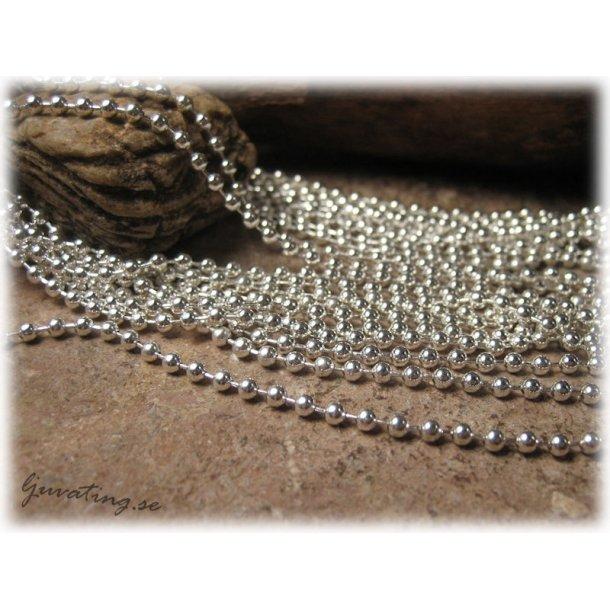 Kulkedja silverfärgade kulor ca 2,4 mm