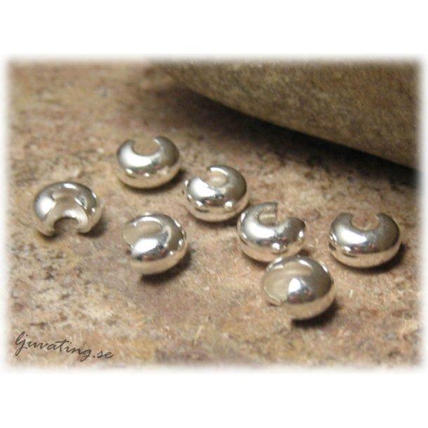 Gömma klämpärlan silverpläterad 10-pack ca 4 mm