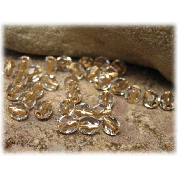 Crystal goldlined facetterad 25-pack ca 4 mm