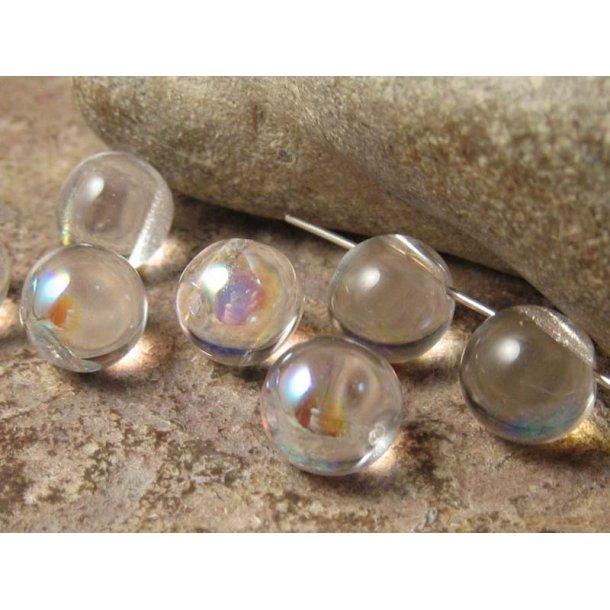 Clear crystal AB rund ca 9,5 mm
