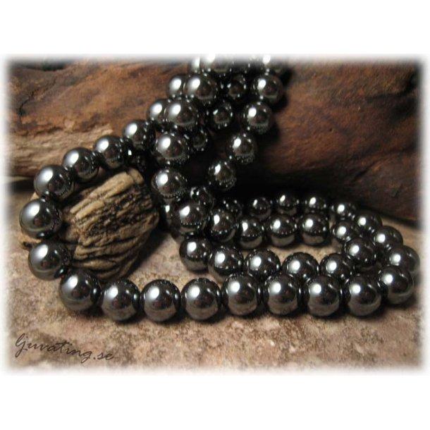 Hematit 20-pack rund pärla ca 6 mm