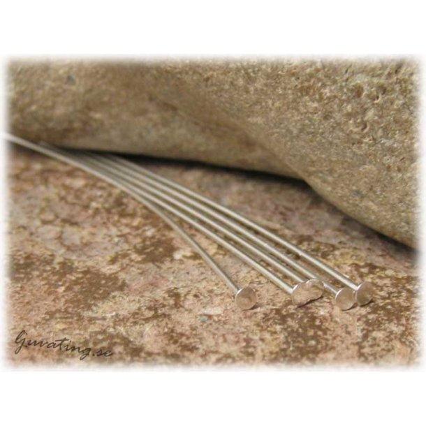 Hattpinnar silverfärgade 50-pack ca 50 mm
