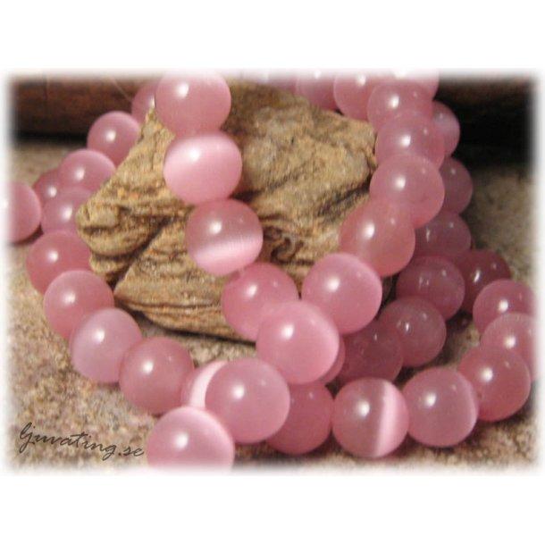 Pärla Cat eye rund rosa 12-pack ca 8 mm