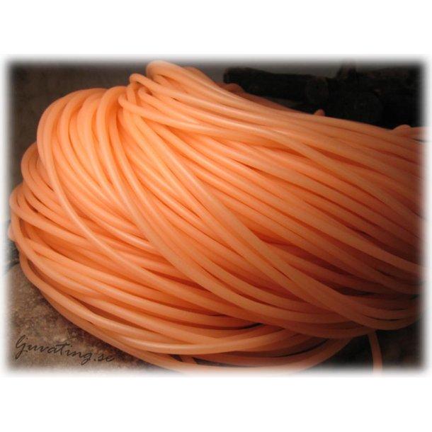 Orange rund massiv gummislang tjocklek ca 4 mm
