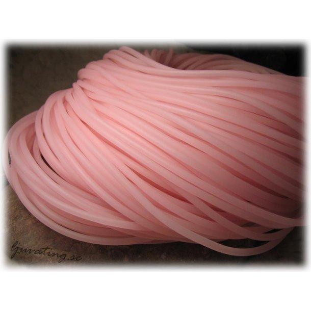 Rosa rund massiv gummislang tjocklek ca 4 mm