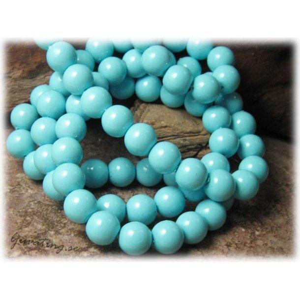 Pärlor i glas rund ljusblå 20-pack ca 10 mm