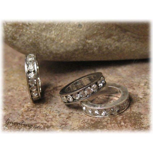 Bling-bling ring med clear rhinestone ca 11 mm