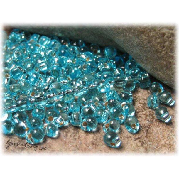 Miyuki droppar aquamarine silverlined ca 3,4 mm