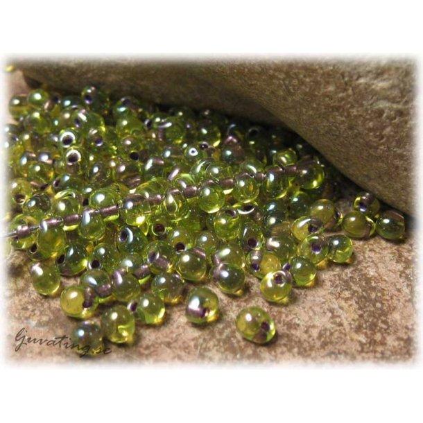 Miyuki droppar olivgrön copperlined ca 3,4 mm