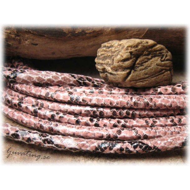 Rosa orm läderimitation med söm tjocklek ca 5mm