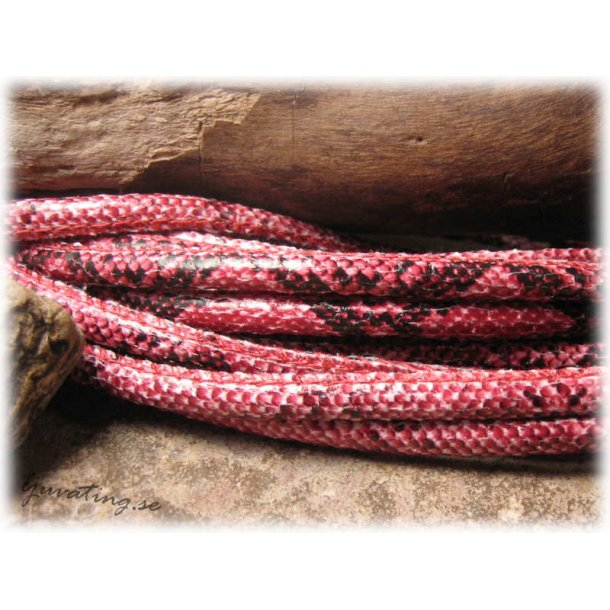 Röd orm läderimitation med söm tjocklek ca 5mm