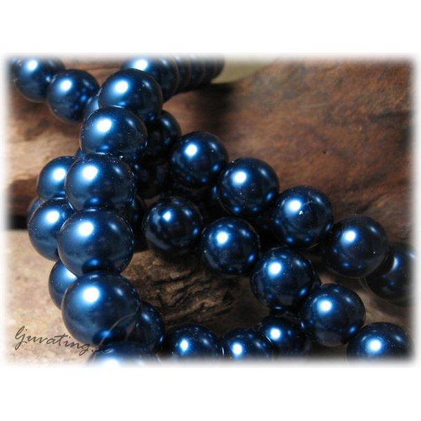 Pärlor i glas rund blå 10-pack ca 12 mm