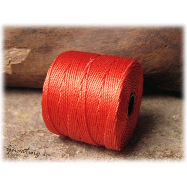 S-lon bead cord orange tjocklek ca 0,5 mm