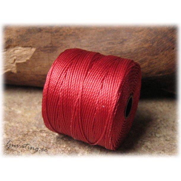 S-lon bead cord mörkröd tjocklek ca 0,5 mm