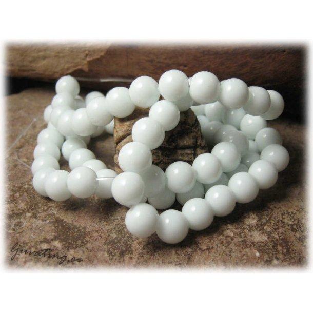 Pärlor i glas vita 20-pack ca 8 mm