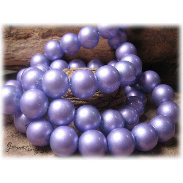 Pärlor i glas rund lila 10-pack ca 12 mm