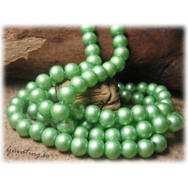 Pärlor rund mintgrön lackad 20-pack ca 8 mm