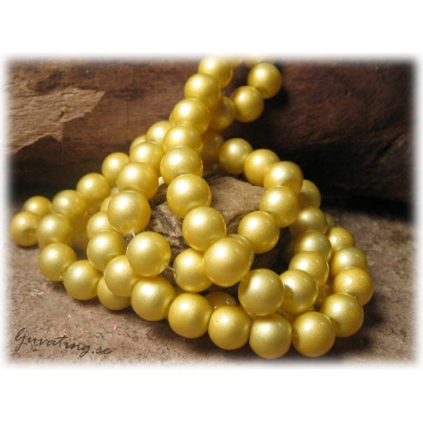 Pärlor rund gul lackad 20-pack ca 8 mm