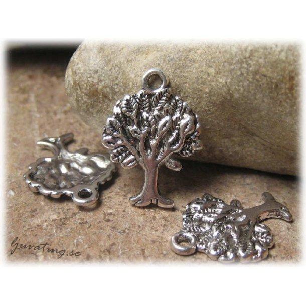 Berlock livets träd antik silverfärg ca 22x17 mm