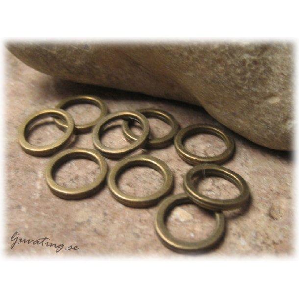 Kraftig sluten ring antik brons 10-pack ca 12 mm