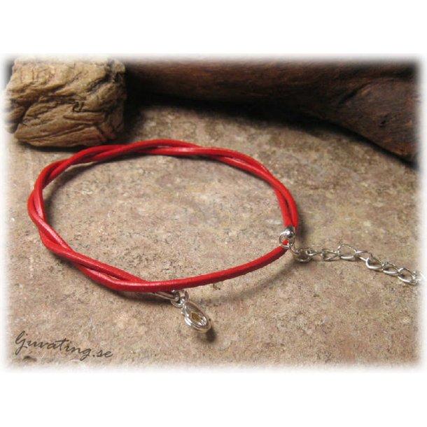 Barnstorlek lite kortare läderband rött halsband