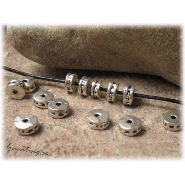 Rondell metallpärla 10-pack 5 mm diameter