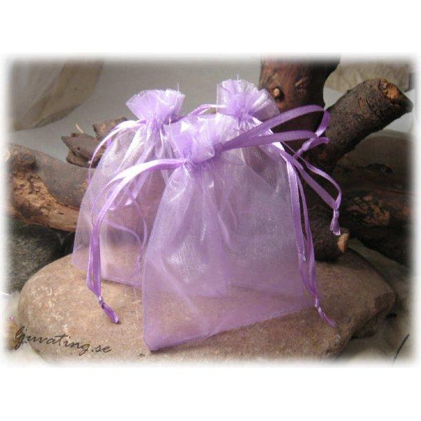 Smyckepåse lila enfärgad ca 12x10 cm