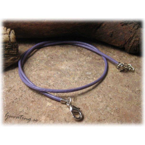 Barnstorlek lite kortare läderband lila halsband