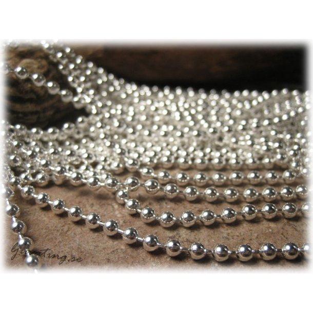 Kulkedja silverfärgade kulor ca 3,2 mm