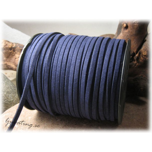 Mocka imitation mörkblå fuskmocka bredd ca 4 mm
