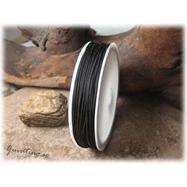 Nylontråd tex. till makrame svart brännbar ca 1 mm